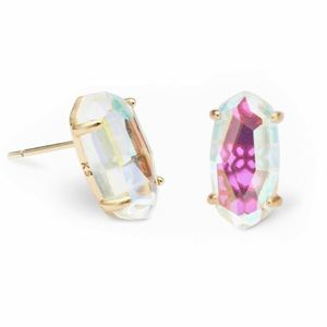 Kendra Scott Betty Gold Stud Dichroic Glass earing